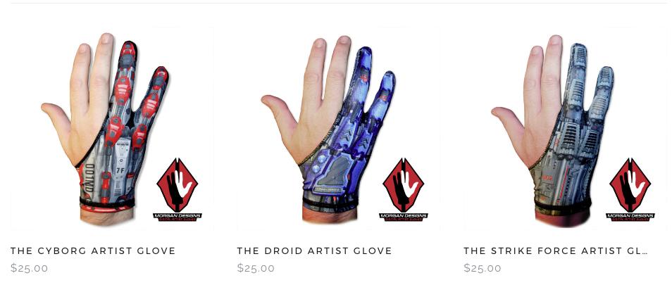 Artist Glove Line up
