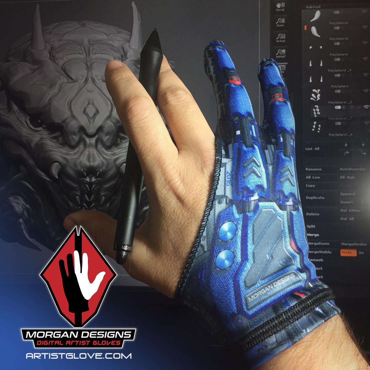 Morgan Designs Droid artist glove