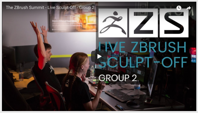 The ZBrush Summit – Live Sculpt-Off
