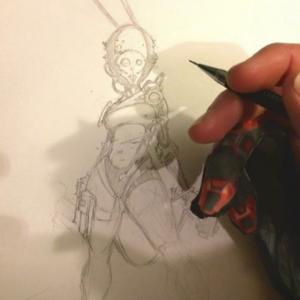 Follow @collinfogel a freelancer laying down killer art with the Morgan Designs Artist Glove.