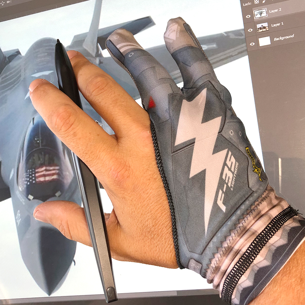 F-35 Lightning Morgan Designs Artist Glove product photo