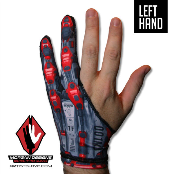 Left handed drawing glove Morgan Designs Artist glove
